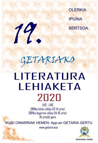 GETARIAKO 19. LITERATURA LEHIAKETA