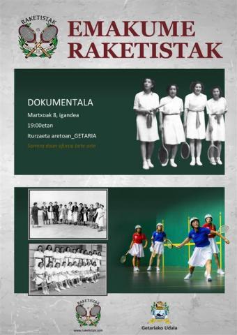 """""""Emakume Raketistak. Lehen eta Orain"""" dokumentalaren emanaldia"""