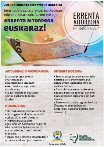 ERRENTA AITORPENA EUSKARAZ!