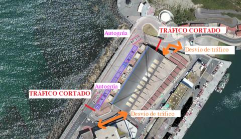 Trafiko mozketa portuan-Txoritonpe eraikinaren estalkiaren konponketak direla