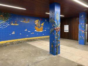, ELKANO500 MUNDUBIRA: Acto de apertura del mural de la Plaza de Verdura, Getariako Udala