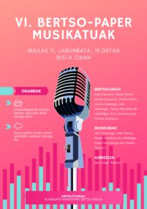 , VI. bertso-paper musikatuak, Getariako Udala